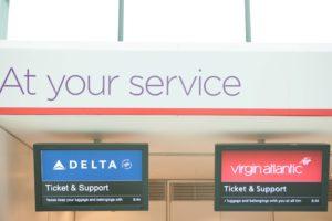 Delta & Virgin Atlantic @ London Heathrow Airport Terminal 3