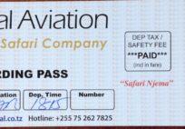 Coastal Aviation Boarding Pass (Ekim 2013)