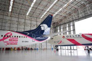 Delta ve Aeromexico, meme kanseriyle mücadelede ortak girişimlerde bulunuyor.