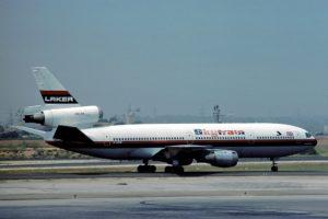 Laker Airways - McDonnell Douglas DC-10-10 in 1976 by Eduard Marmet