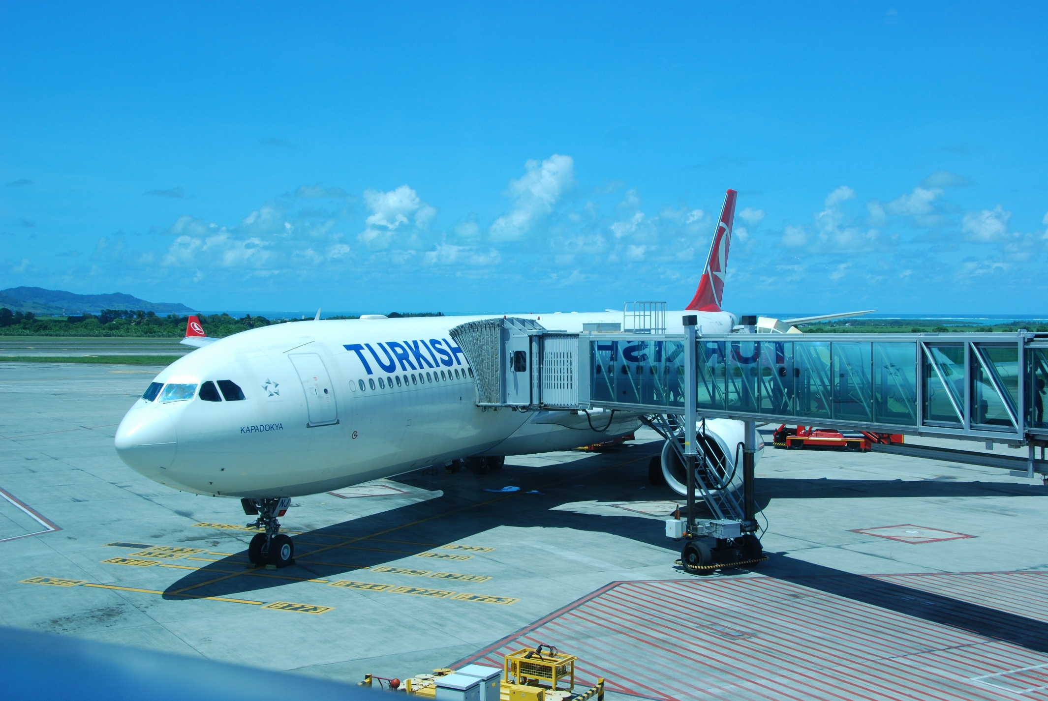 THY_Turkish Airlines_Airbus A330_Mauritius Airport_Jan 2016