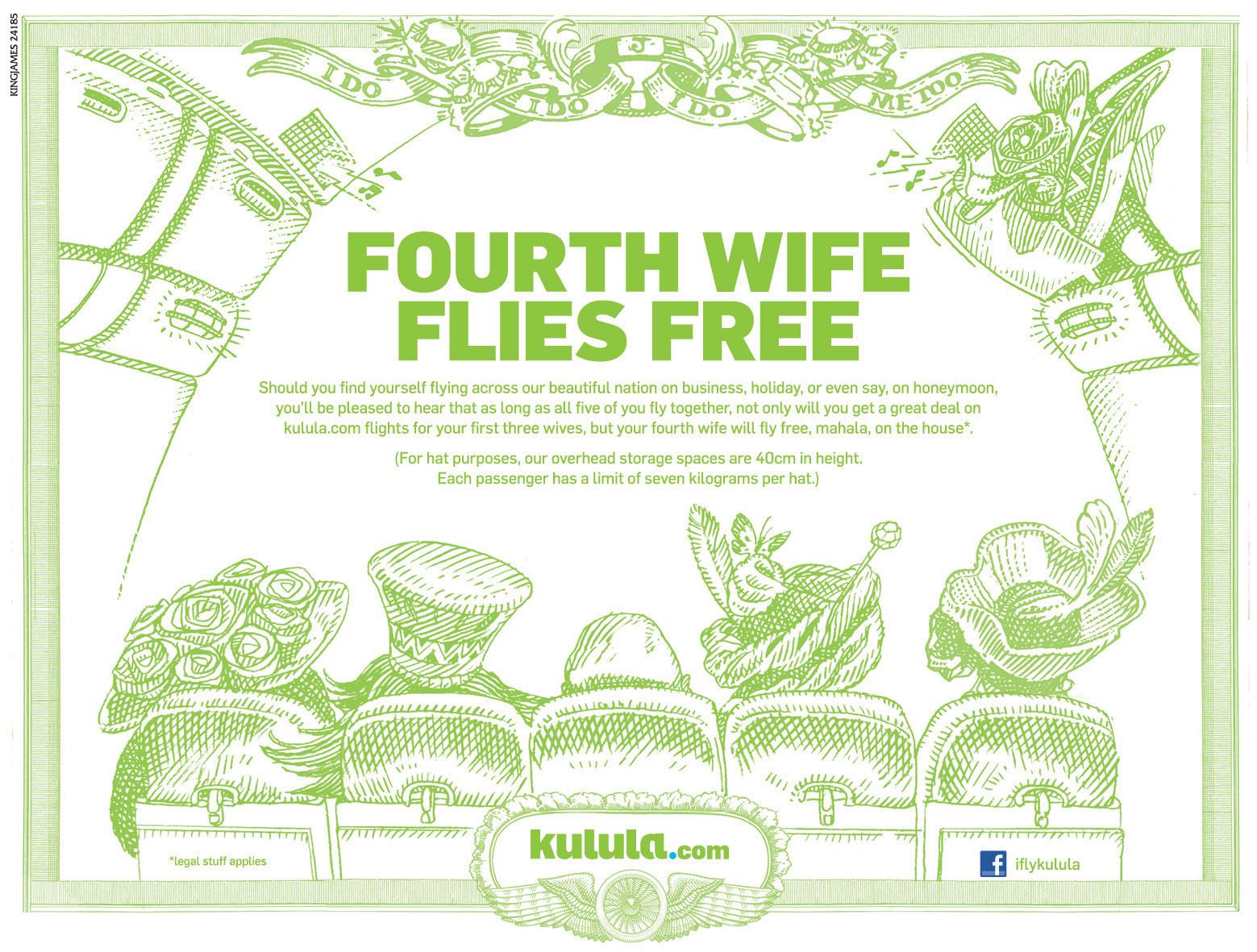 Kulula fourth wife flies free