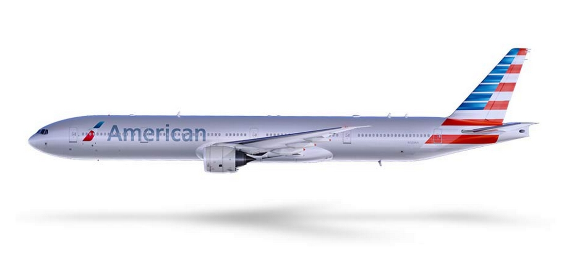 American Airlines_yeni_logo_Boeing 777