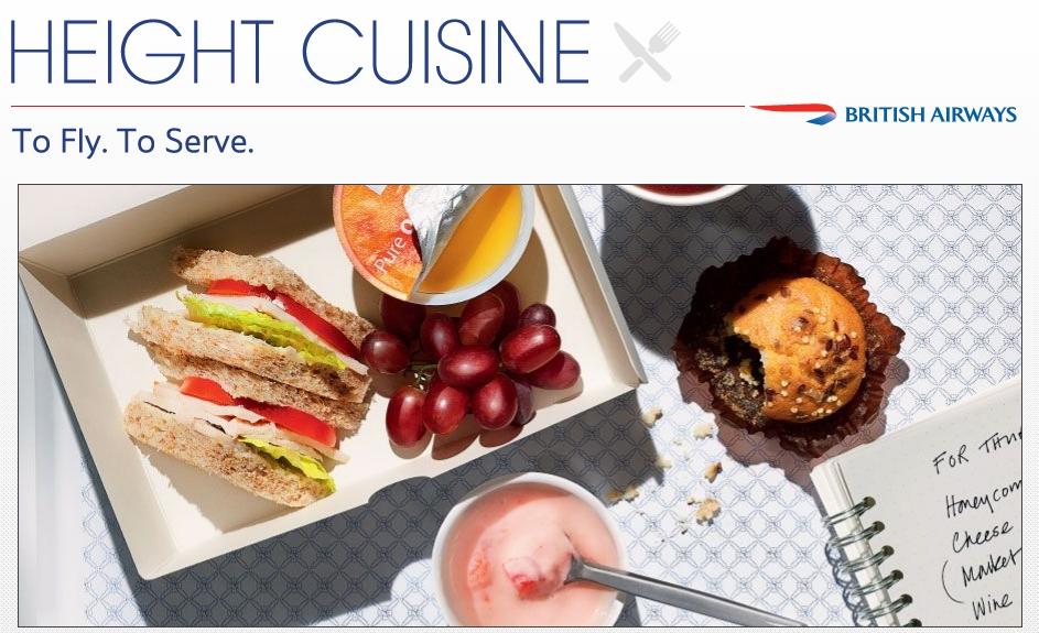 British Airways_height cuisine