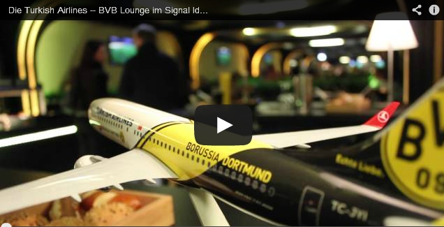Die Turkish Airlines - BVB Lounge im Signal Iduna Park