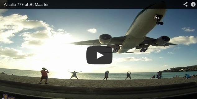 Alitalia Boeing 777 at St Maarten