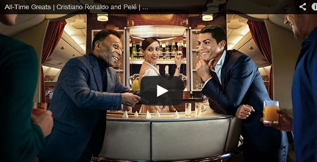 All-Time Greats Cristiano Ronaldo and Pelé Emirates Football