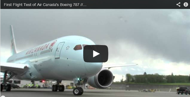 First Flight Test of Air Canada's Boeing 787