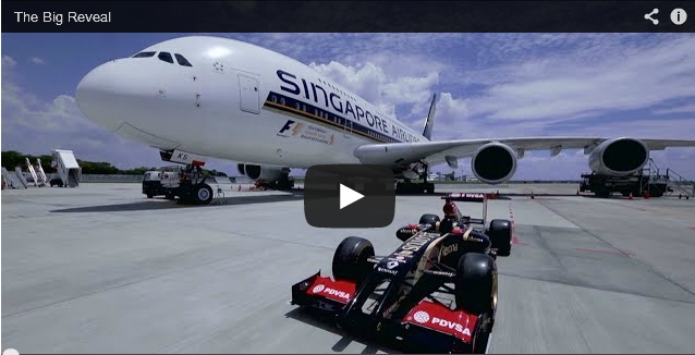 Sponsorship for the 2014 Formula 1 Singapore Grand Prix