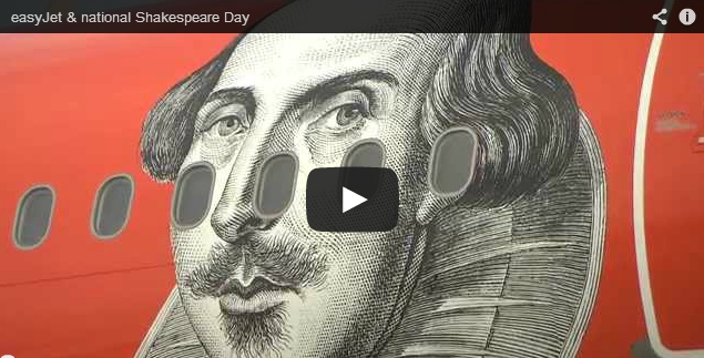 easyJet national Shakespeare Day