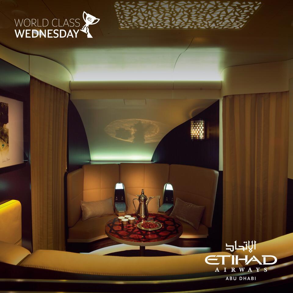 Etihad Airways' Arabic Inspired Lobby on the Airbus A380