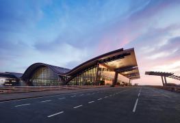 Doha_Hamad_Airport_HIA Passenger Terminal At Sunset