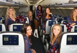 jetblue Patriots Cheerleaders Calendar Shoot