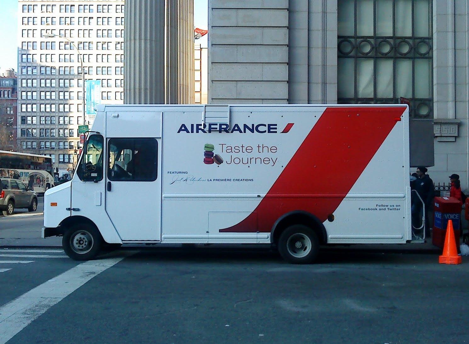 Air France food truck New York Manhattan