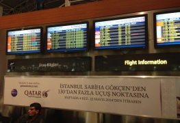 Qatar Airways Airport Ad @ Istanbul Sabiha Gokcen Airport SAW