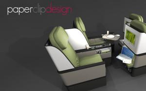 Paperclip Design Short-haul Premium Class Concept