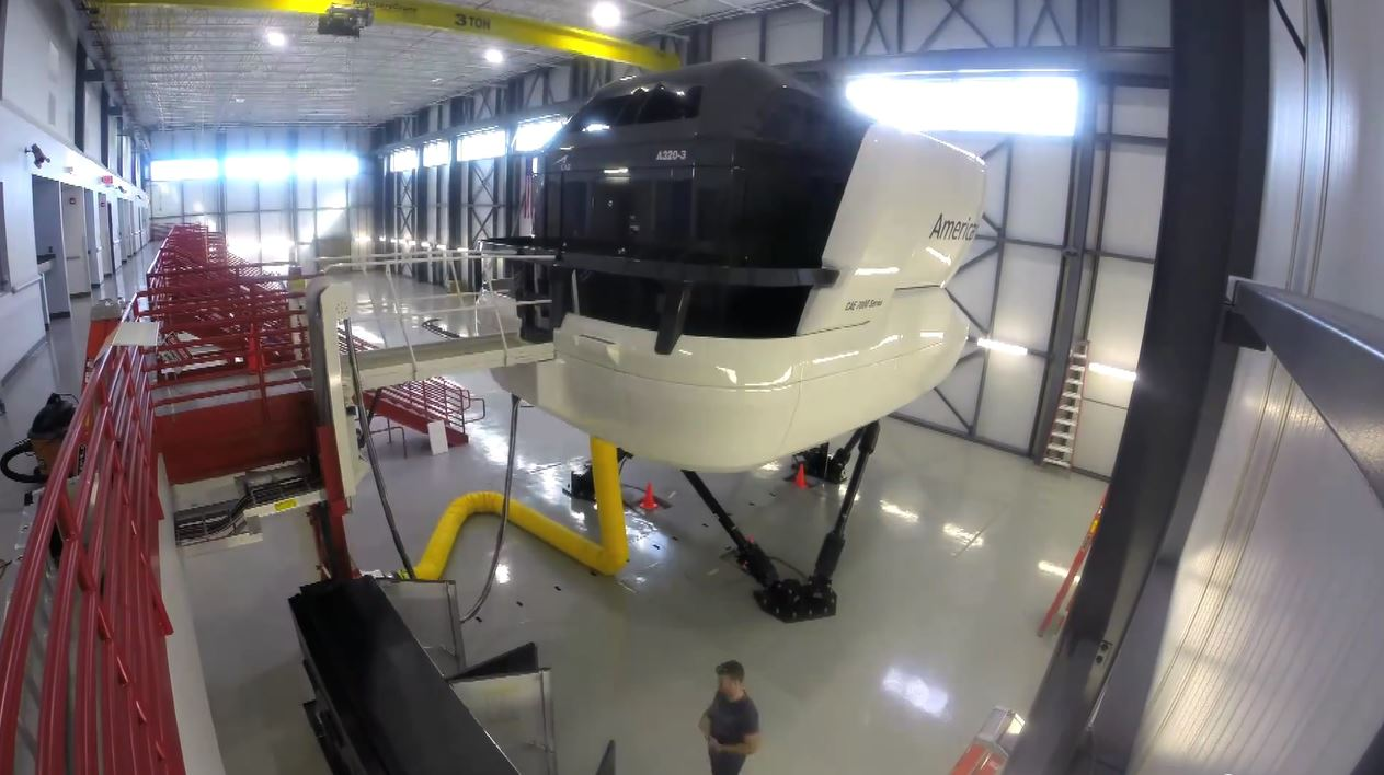 American Airlines A320 Simulator Installation