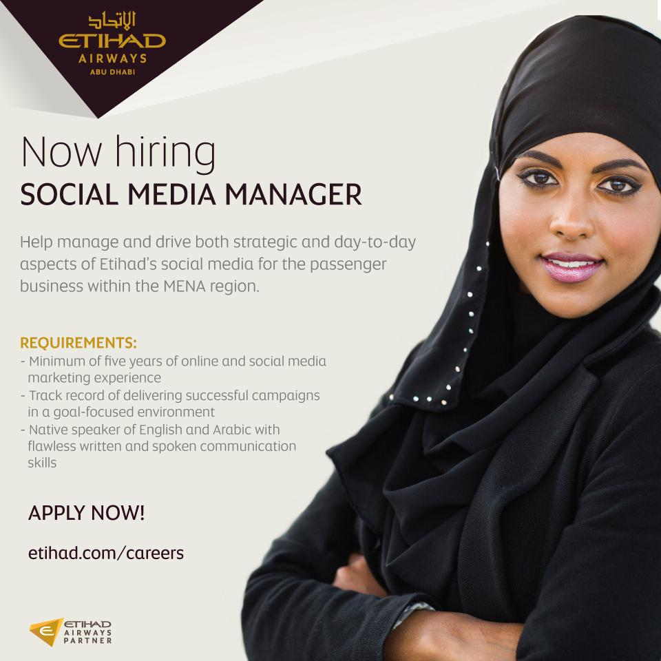 Etihad Airways_Social Media Manager