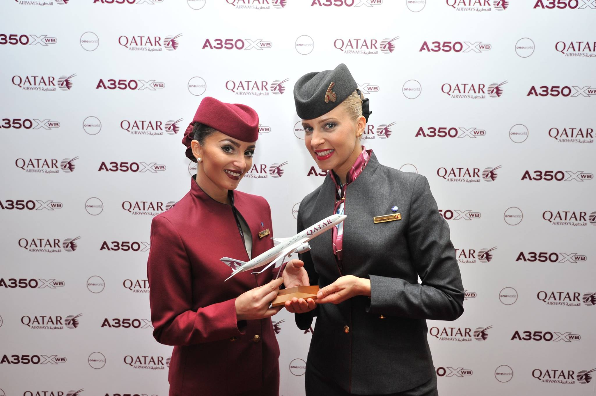 Qatar Airways_First Airbus A350_Doha_hostess