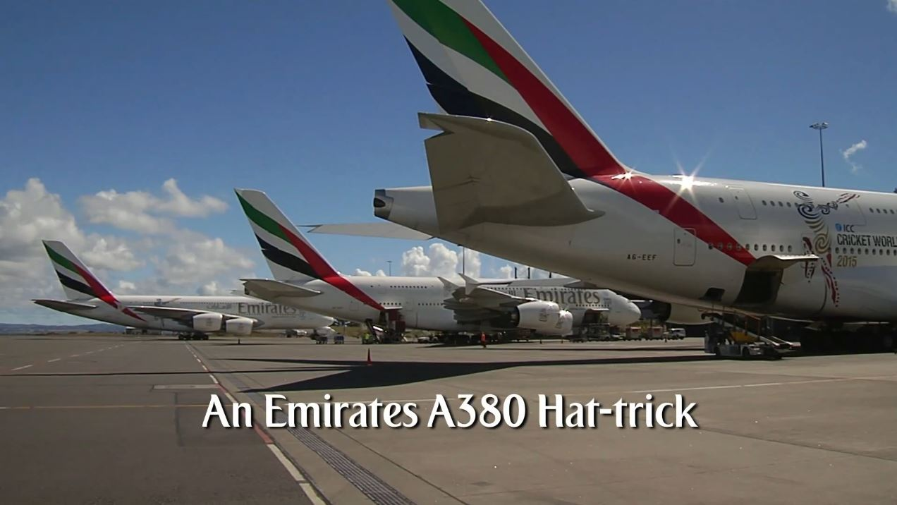 Emirates A380 Hat-Trick in Auckland_Emirates Airline