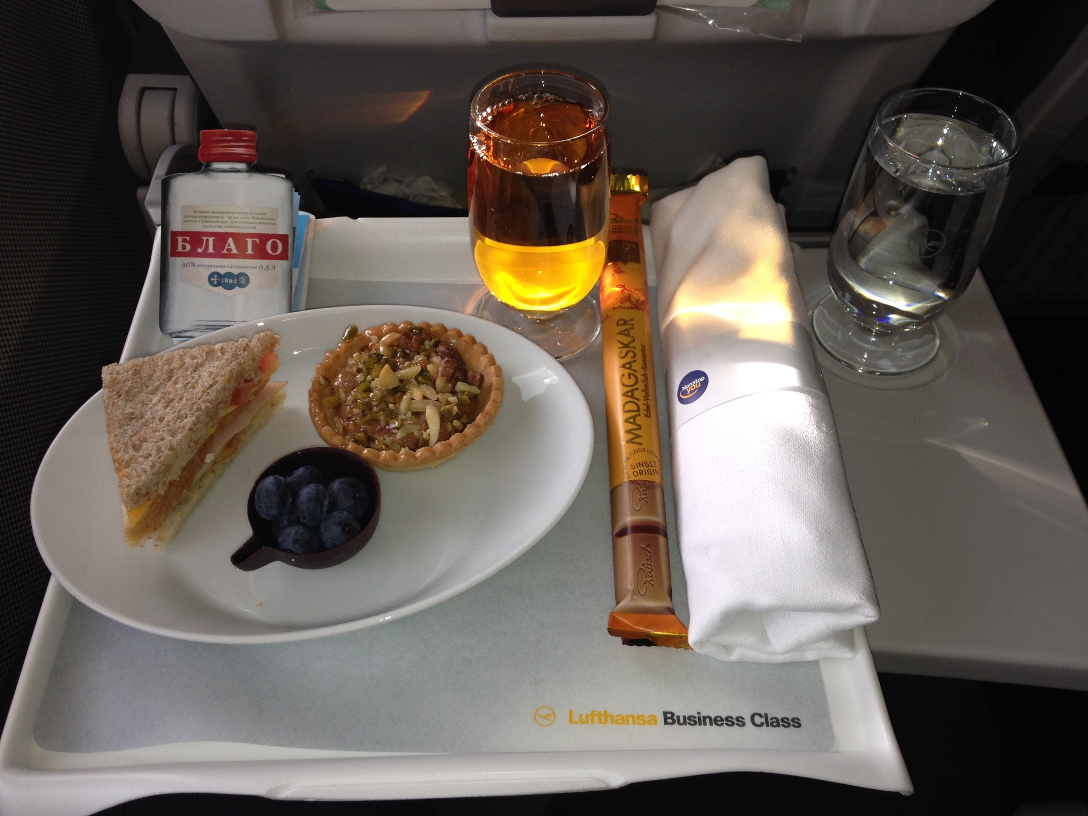 Lufthansa_LH_Inflight Food_Frankfurt-Amsterdam_Business Class_March 2015