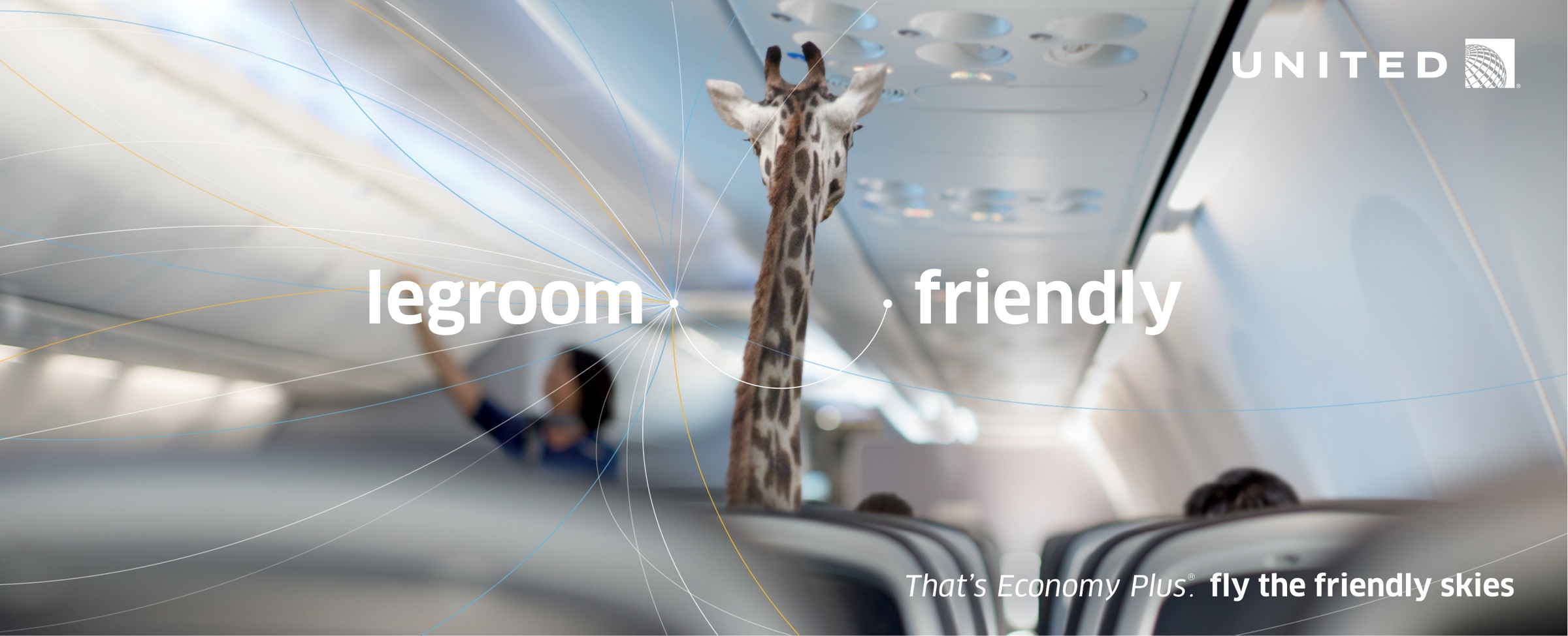 United Airlines_ad_commercial_giraffe_economy plus