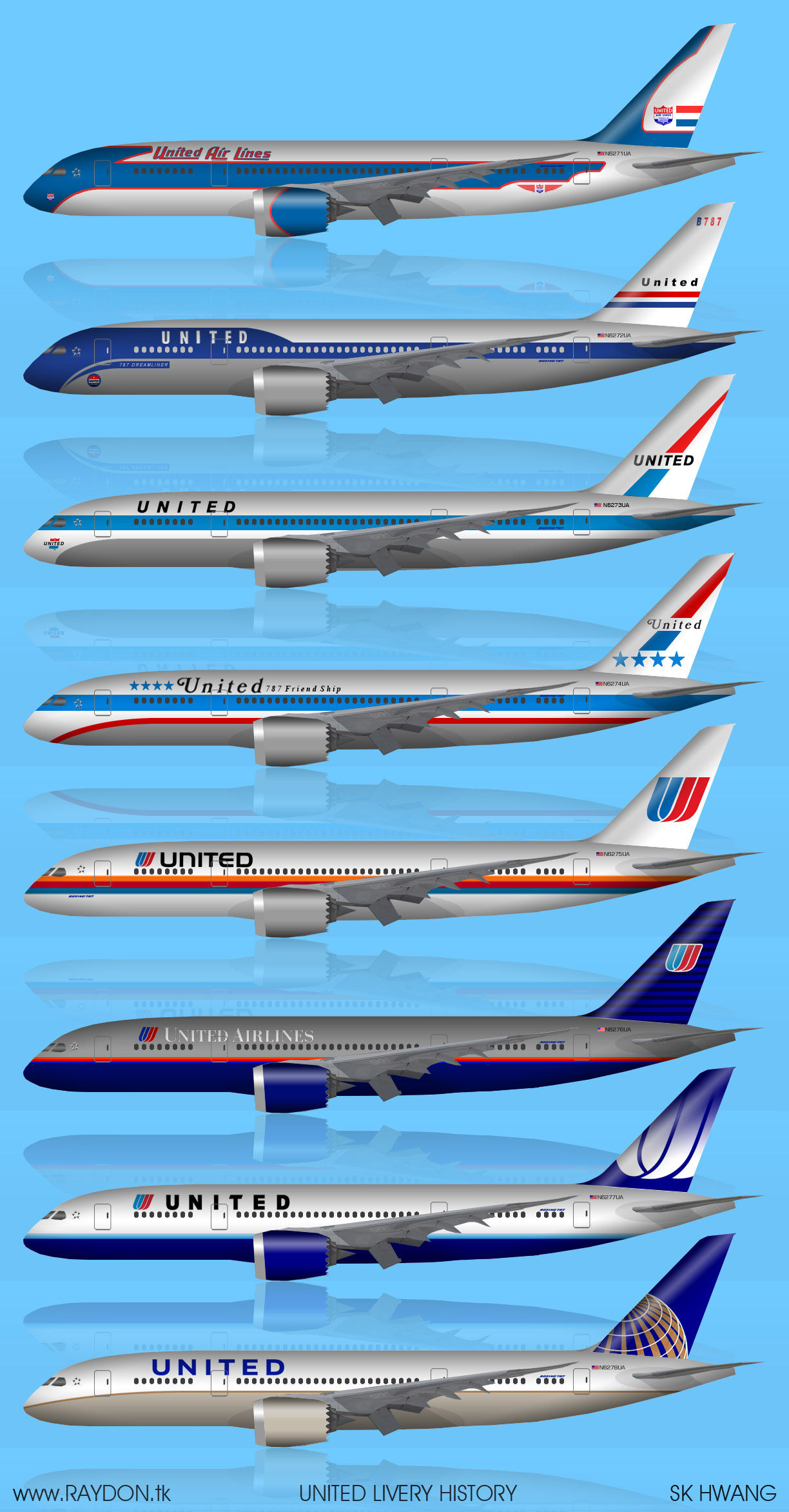 United Airlines_livery_history_Boeing 787