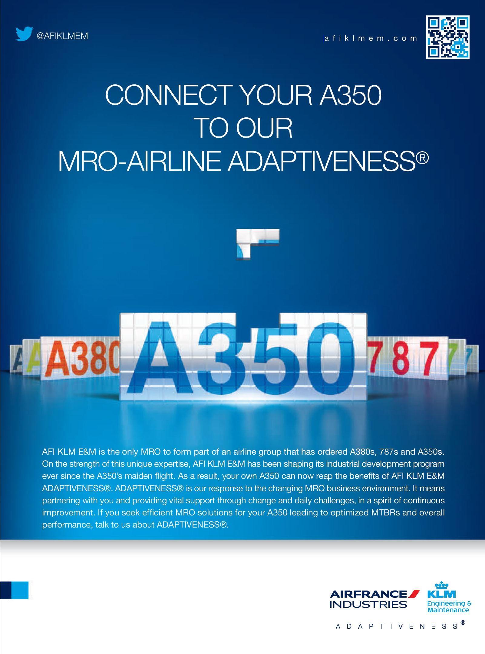 Air France-KLM - Airbus A350 MRO Ad