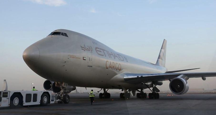 Etihad Cargo Boeing 747 with new livery
