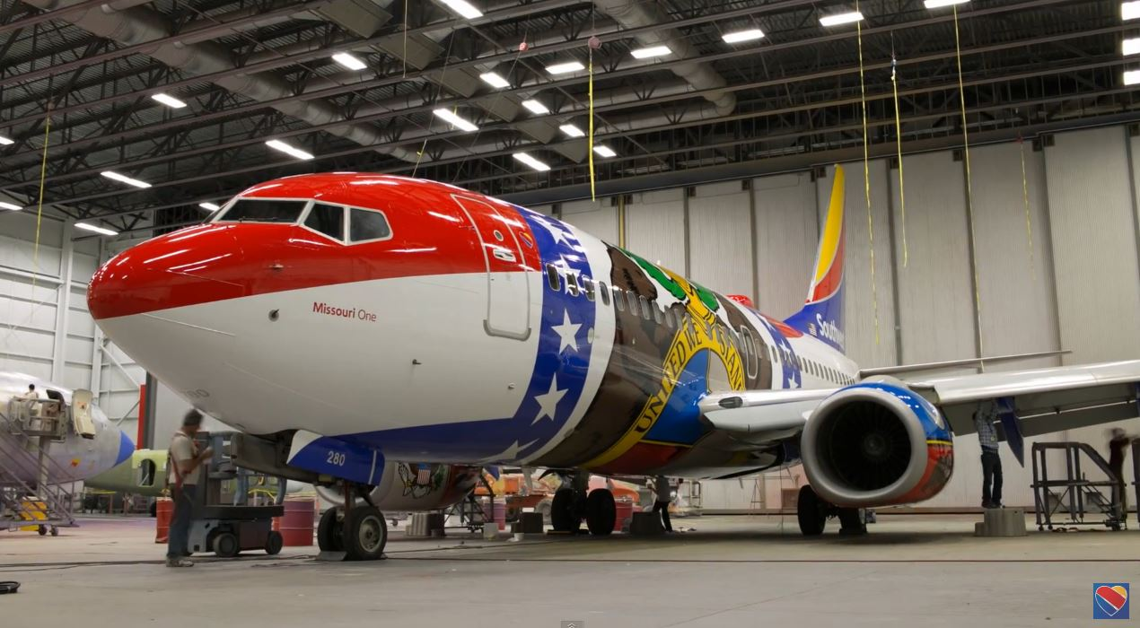 Southwest Airlines Missouri One Aircraft