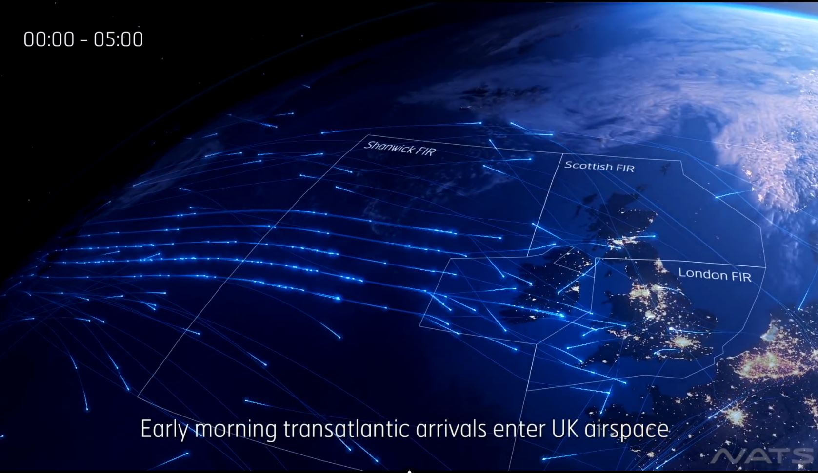 United Kingdom_airspace_one day_visualisation_nats