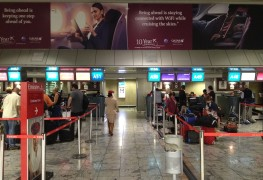 Qatar Airways_ad_being ahead_Johannesburg Airport
