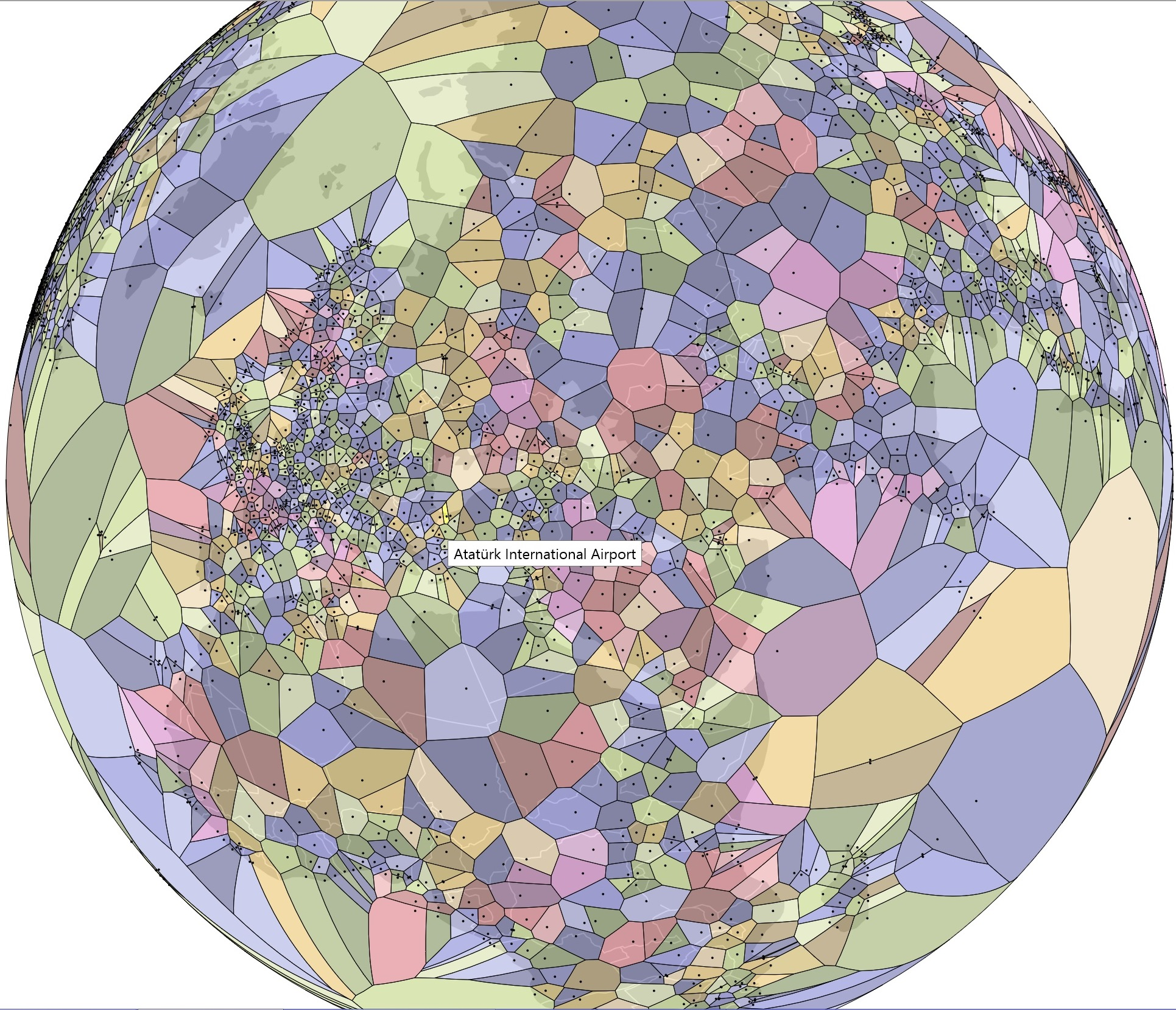 Voronoi Diagram_havalimani_airport_dunya_world