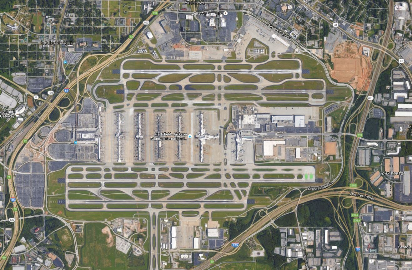 Atlanta Airport_ATL_google earth