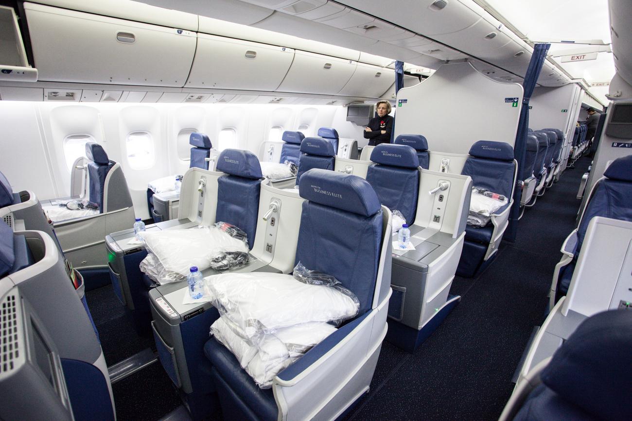 Delta Air Lines Business Class Zurich New York Havayolu 101