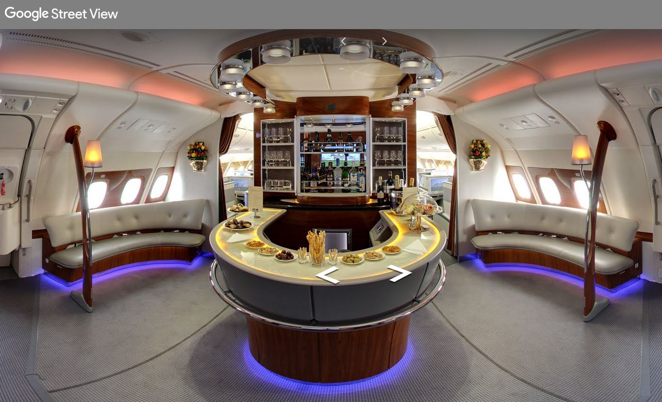 Emirates_Airbus A380_Lounge_Google Street View