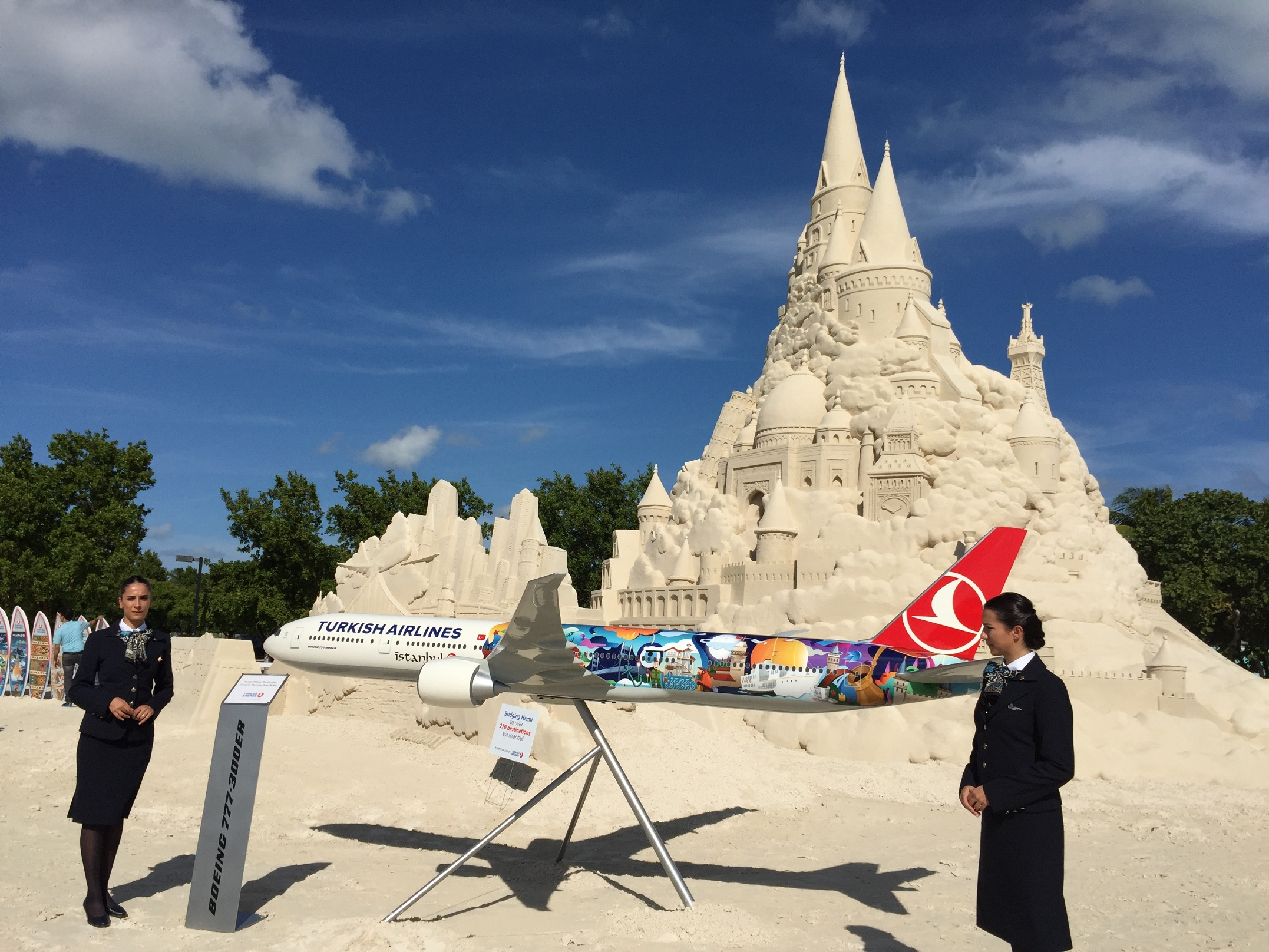 THY_Turkish Airlines_First Flight Miami_Sand Castle_Oct 2015_002