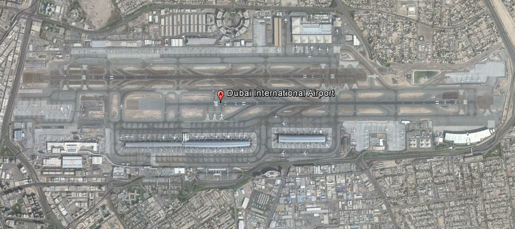 Dubai (DXB) - Google Earth