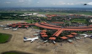 Jakarta Soekarno-Hatta Airport aerial view