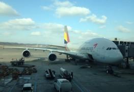 Asiana_Airbus A380_Seoul_ICN_Airport_Jan 2016