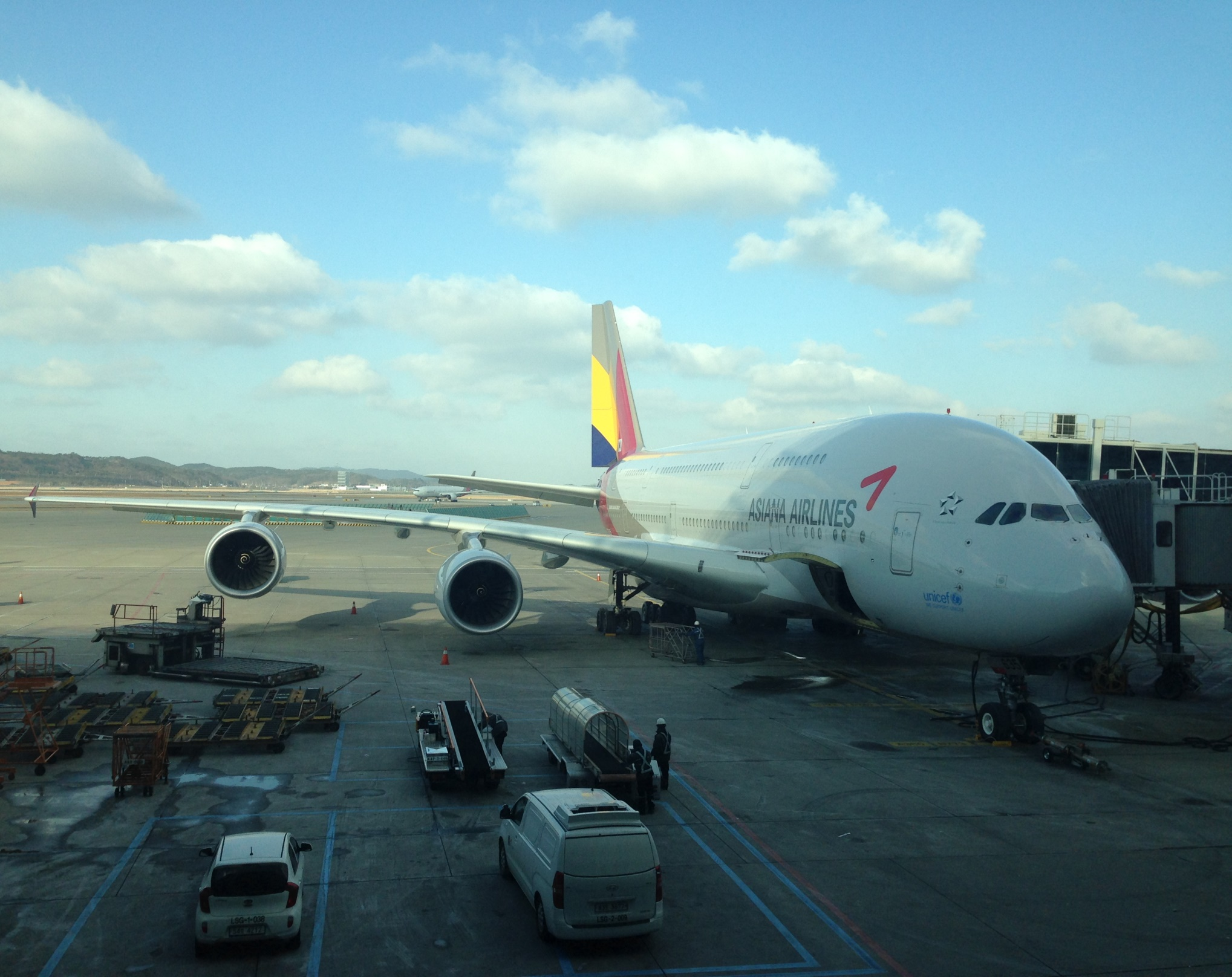 Asiana_Airbus A380_Seoul_ICN_Airport_Jan 2016