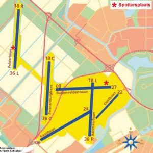 Amsterdam Schiphol (AMS) Havalimanı Pistleri