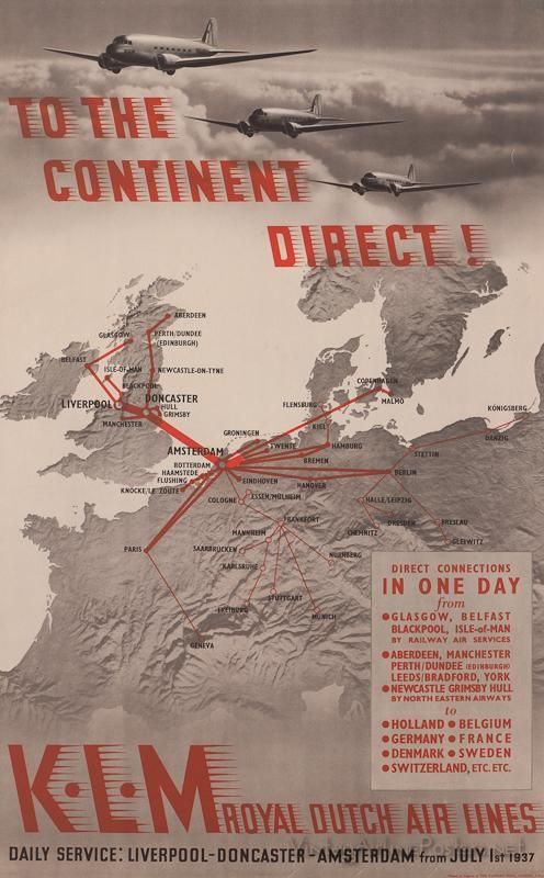 KLM_to the continent direct_ad_vintage_1937