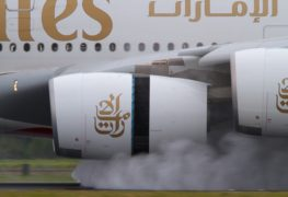 Thrust Reversal_Cold Stream Cascade Reverser_Emirates_Airbus A380
